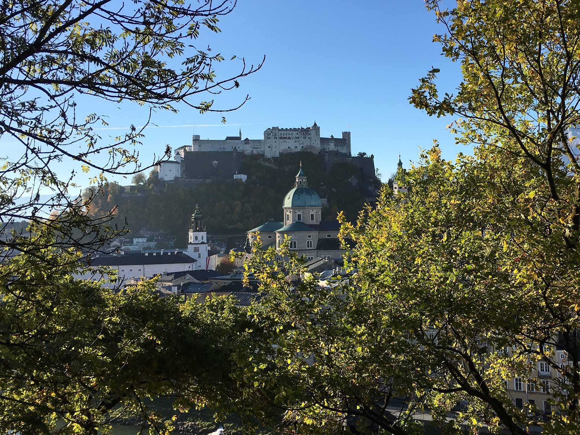 Kapuzinerberg Blick Festung Salzburg